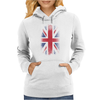 Eroded UK Flag Womens Hoodie