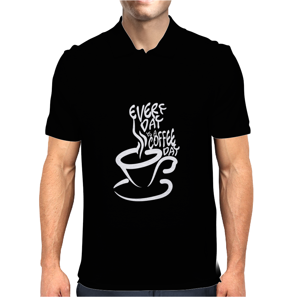 Every day is a coffee day Mens Polo