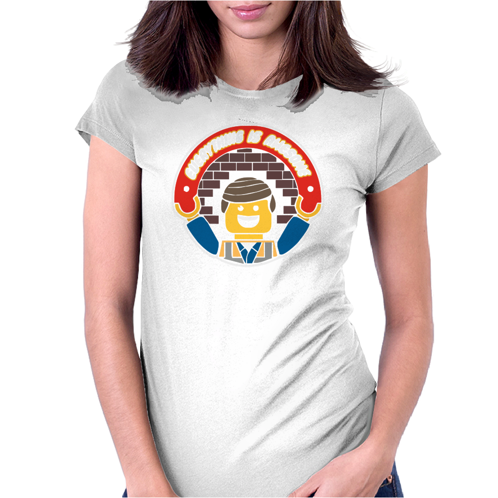 Everything Is Awesome - Mens Funny Lego Womens Fitted T-Shirt