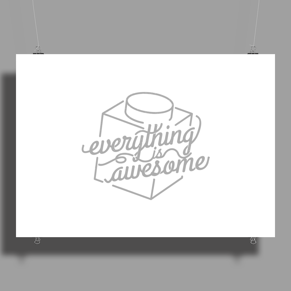 Everything is Awesome Poster Print (Landscape)