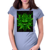 evil greenman Womens Fitted T-Shirt