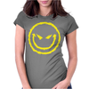 Evil Smiley Face Womens Fitted T-Shirt
