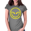 Evil Smiley Womens Fitted T-Shirt