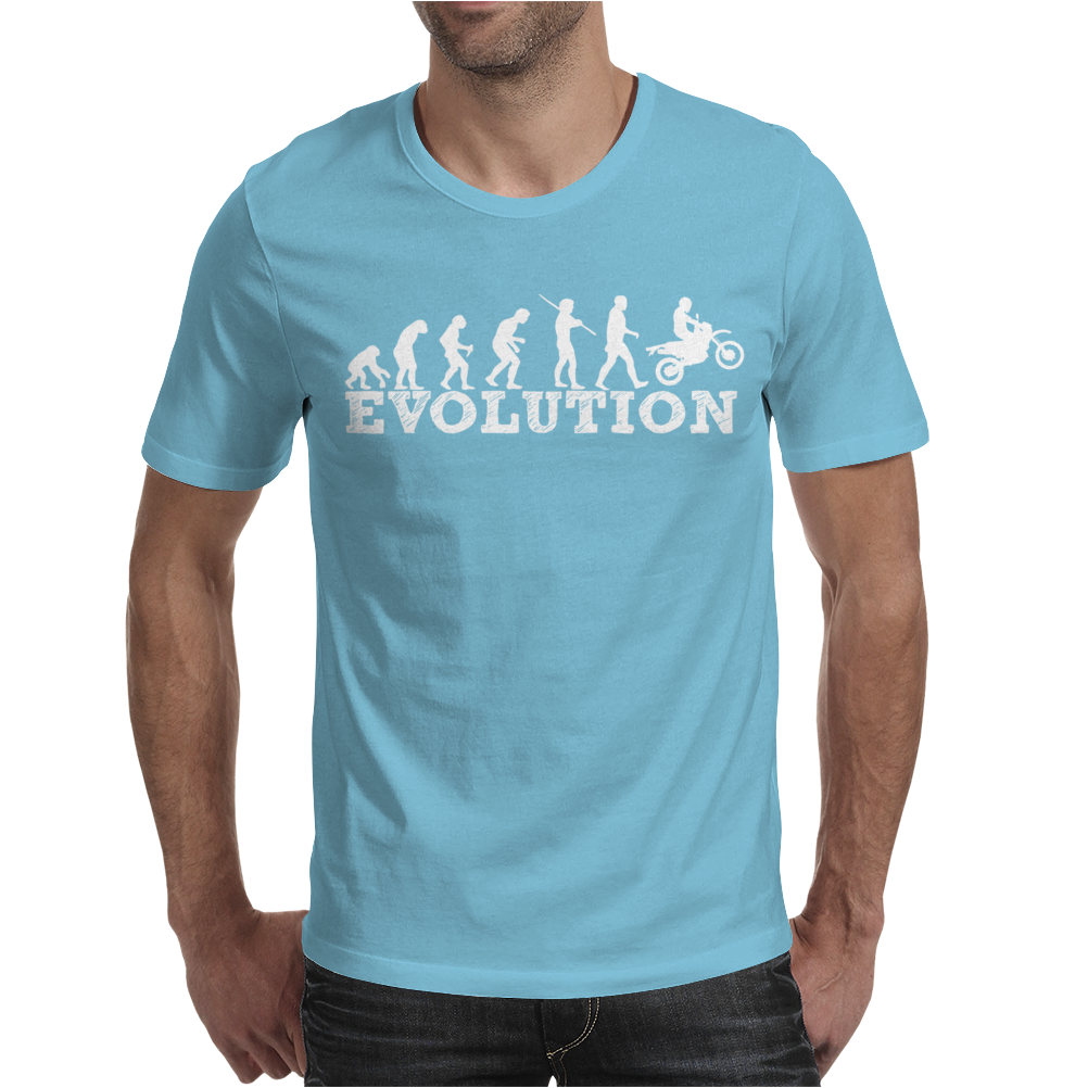 Evolution Dirt Bike Motorcross Mens T-Shirt
