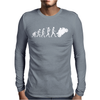 'Evolution Motorcycle' Funny Mens Long Sleeve T-Shirt