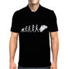 'Evolution Motorcycle' Funny Mens Polo