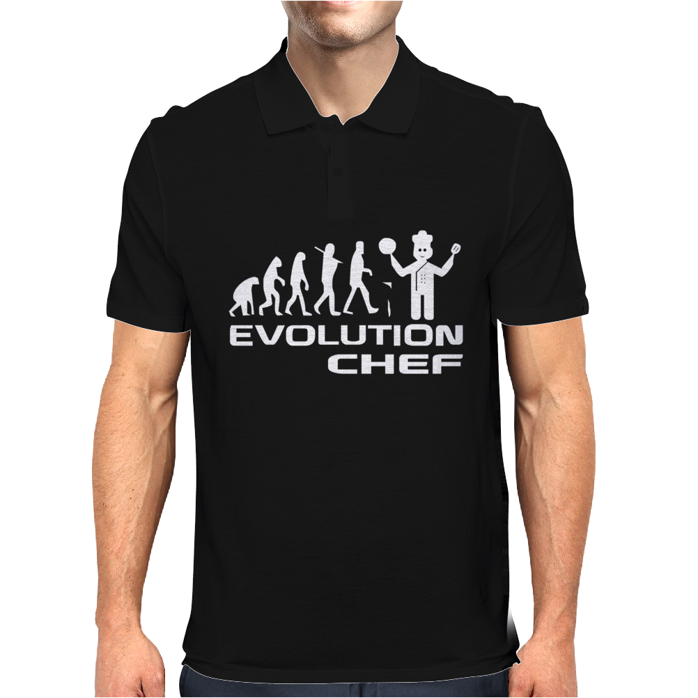 Evolution Of A Chef Cooking Funny Mens Mens Polo