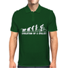 Evolution Of A Cyclist Mens Polo