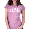 Evolution Of A Cyclist Womens Fitted T-Shirt