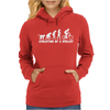 Evolution Of A Cyclist Womens Hoodie