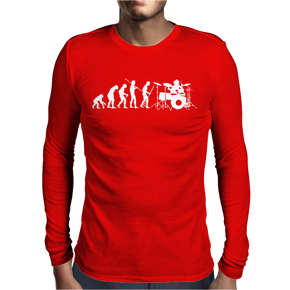 Evolution of a Drummer Mens Long Sleeve T-Shirt