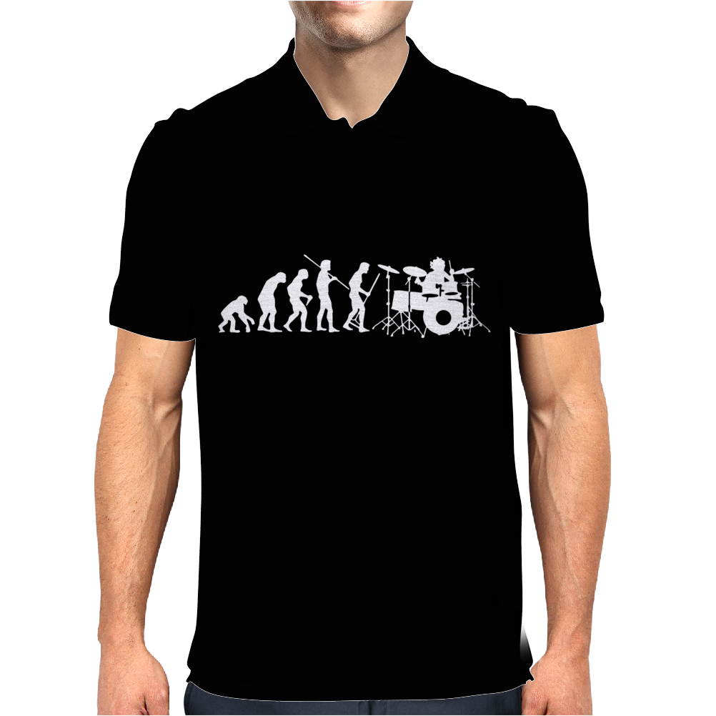 Evolution of a Drummer Mens Polo