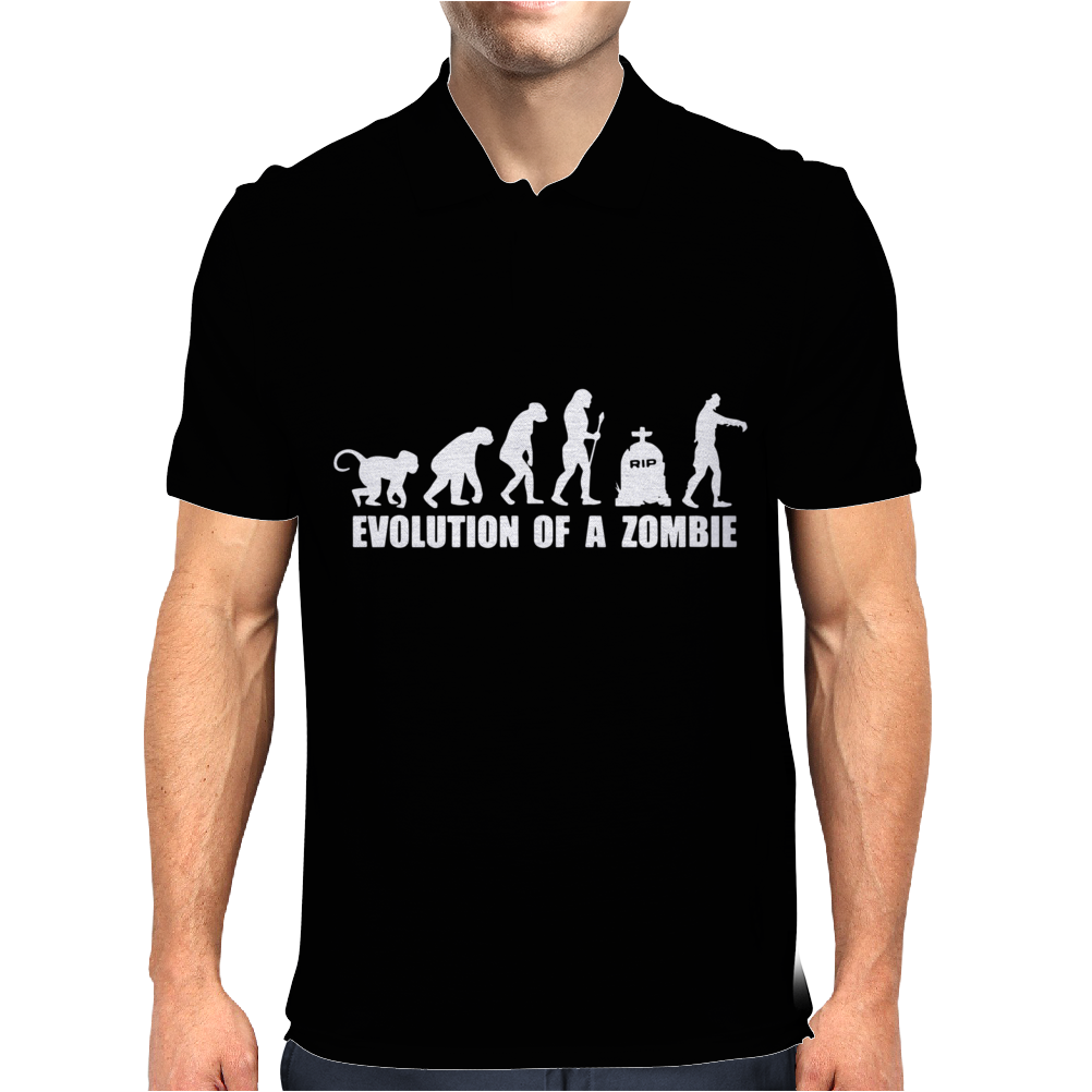 Evolution Of A Zombie Mens Polo