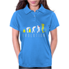 Evolution of Alien, Funny Womens Polo