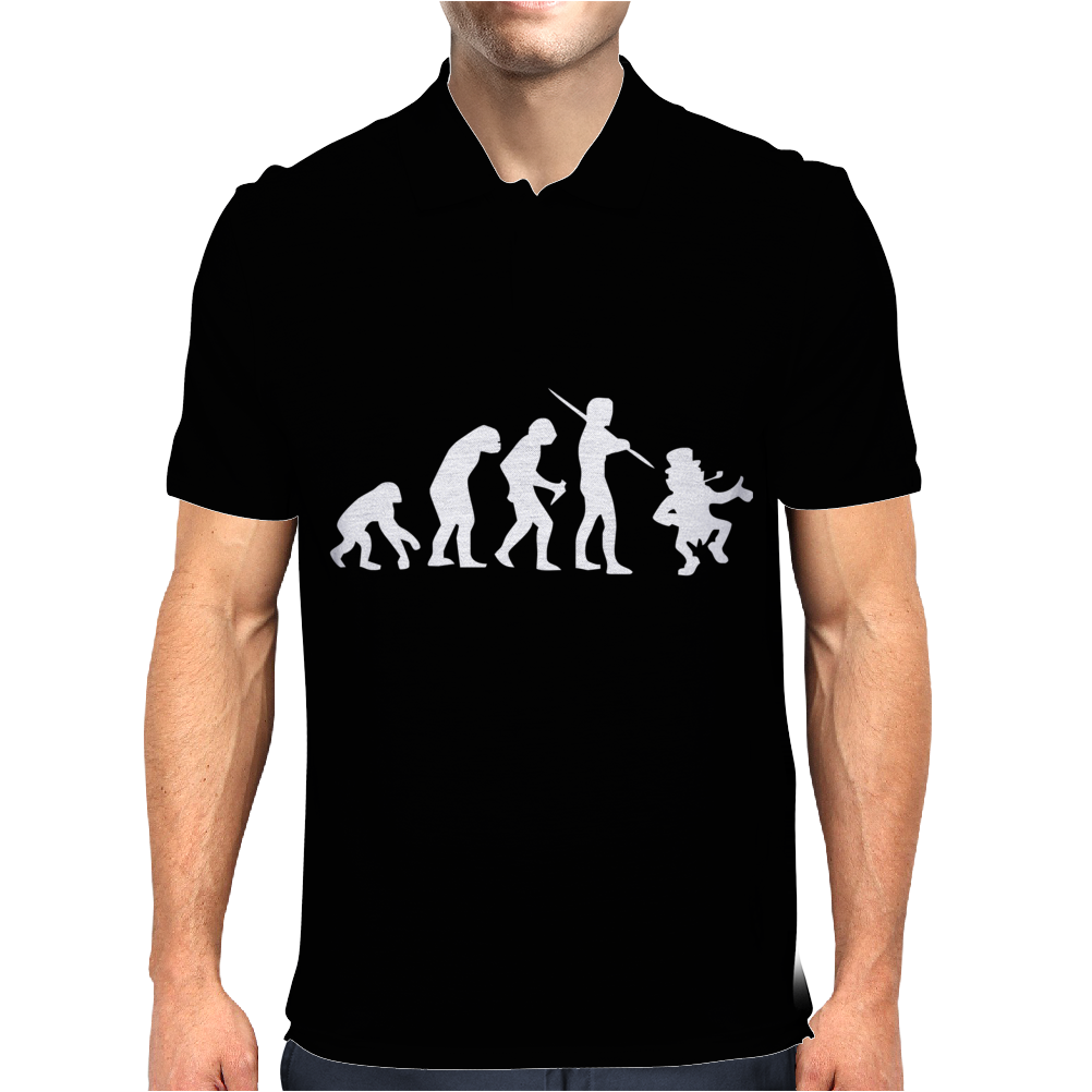 Evolution of Leprechaun Funny  Irish Ireland St Patricks Day US Mens Polo