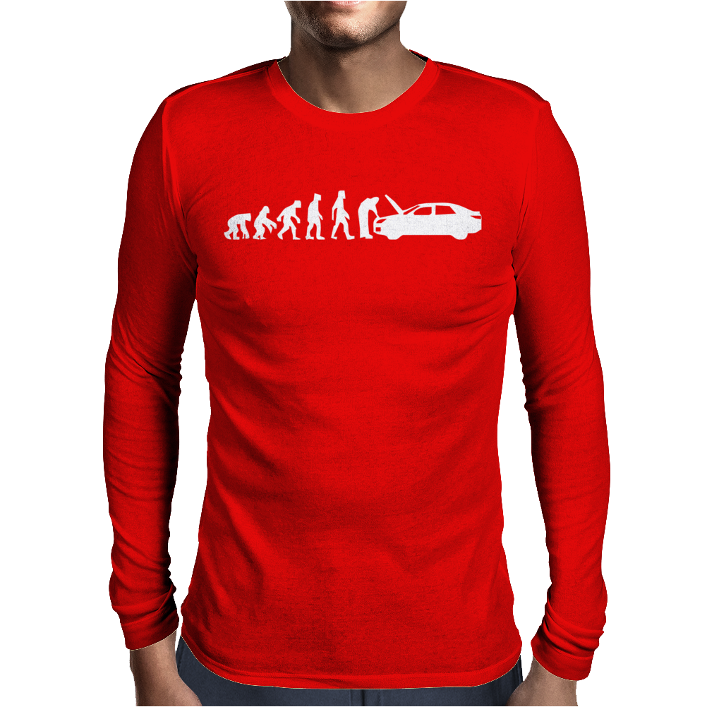 EVOLUTION OF MAN - CAR MECHANIC GIFT HOBBIE FUNNY Mens Long Sleeve T-Shirt