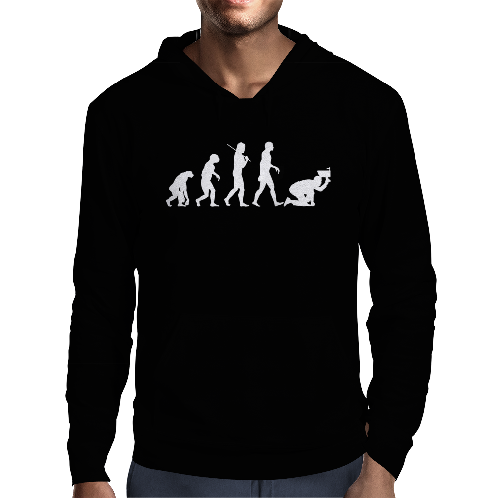 Evolution Of Plumbing Mens Hoodie