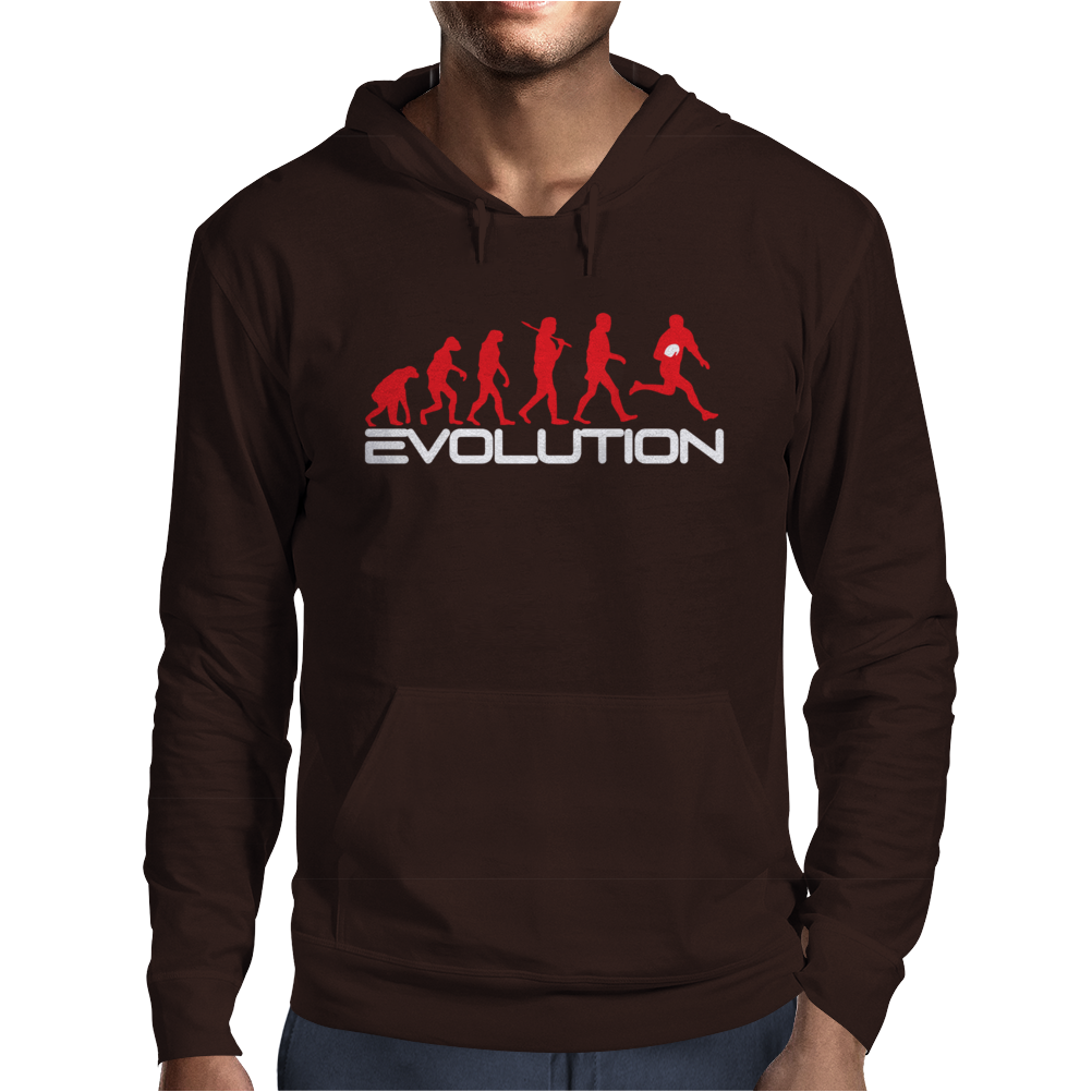 Evolution of Rugby Funny Mens Hoodie