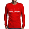 Evolution of Rugby Funny Mens Long Sleeve T-Shirt