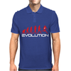 Evolution of Rugby Funny Mens Polo