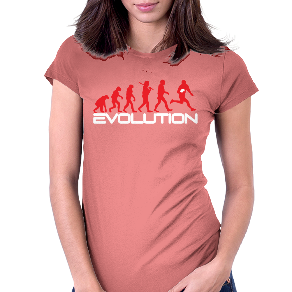 Evolution of Rugby Funny Womens Fitted T-Shirt