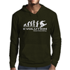 Evolution of Snowboarding funny Mens Hoodie