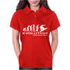 Evolution of Snowboarding funny Womens Polo
