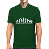 Evolution T-Shirt Something Somewhere Went Terribly Wrong funny Mens Polo
