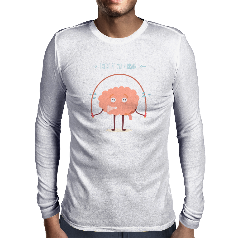 Exercise your brain Mens Long Sleeve T-Shirt