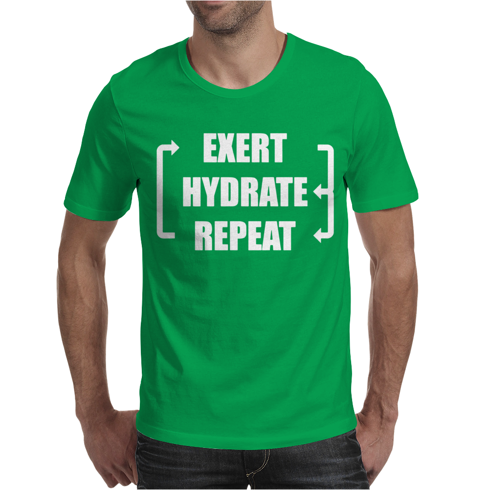 Exert Hydrate Repeat Mens T-Shirt