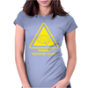 Existential Brain Hazard Warning Sign Womens Fitted T-Shirt