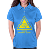 Existential Brain Hazard Warning Sign Womens Polo