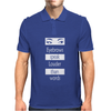 Eyebrows speak louder than words Mens Polo