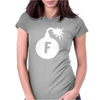 F bomb Womens Fitted T-Shirt