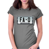 FA-Q LICENSE PLATE Womens Fitted T-Shirt