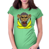 Face Biter banana Womens Fitted T-Shirt