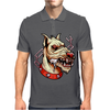 Face Mad Angry Dog Mens Polo