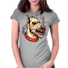 Face Mad Angry Dog Womens Fitted T-Shirt