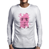 Face Pink Mens Long Sleeve T-Shirt