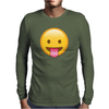 Face With Stuck-Out Tongue emoji Mens Long Sleeve T-Shirt