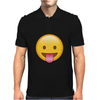 Face With Stuck-Out Tongue emoji Mens Polo