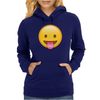 Face With Stuck-Out Tongue emoji Womens Hoodie
