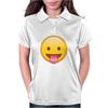 Face With Stuck-Out Tongue emoji Womens Polo