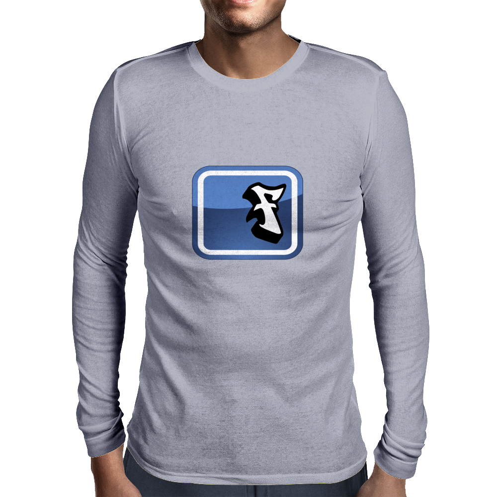 Facebook Logo (graffiti style) Mens Long Sleeve T-Shirt