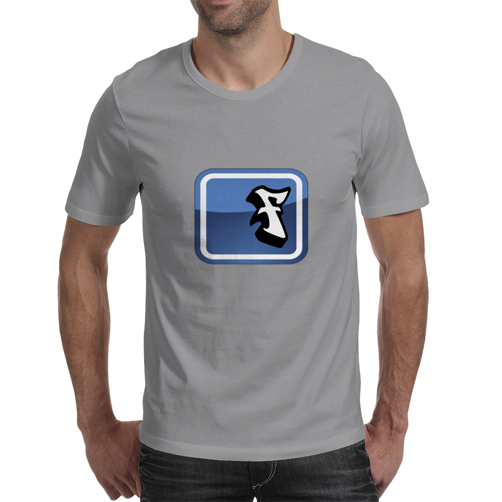 Facebook Logo (graffiti style) Mens T-Shirt