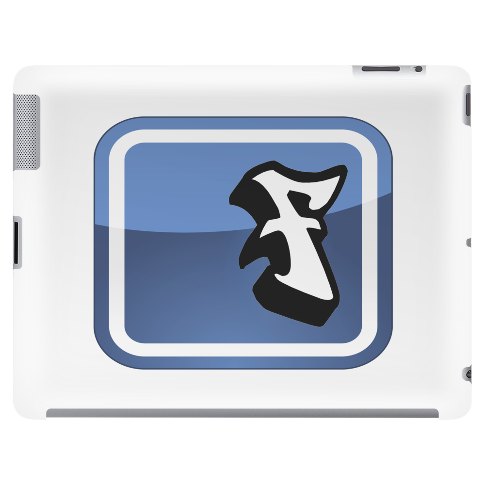 Facebook Logo (graffiti style) Tablet (horizontal)