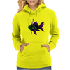 Faerie Fishing on a Fish Womens Hoodie