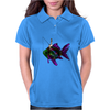 Faerie Fishing on a Fish Womens Polo