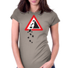 Falling Rocks Womens Fitted T-Shirt