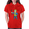 Fallout Vault Boy Mechanic Womens Polo